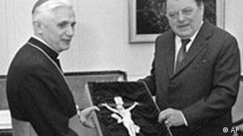 Ratzinger und Franz Joseph Strauß