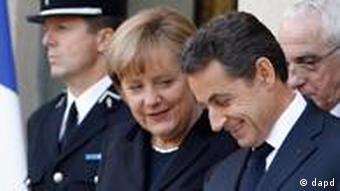 Merkel und Sarkozy Treffen Frankreich