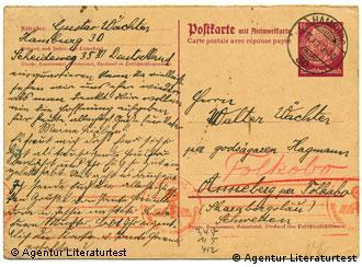 One postcard that the family exchanged