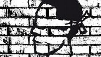 Gesicht auf Mauer