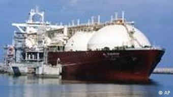 Liquid Natural Gas (LNG) tanker ship (AP Photo)