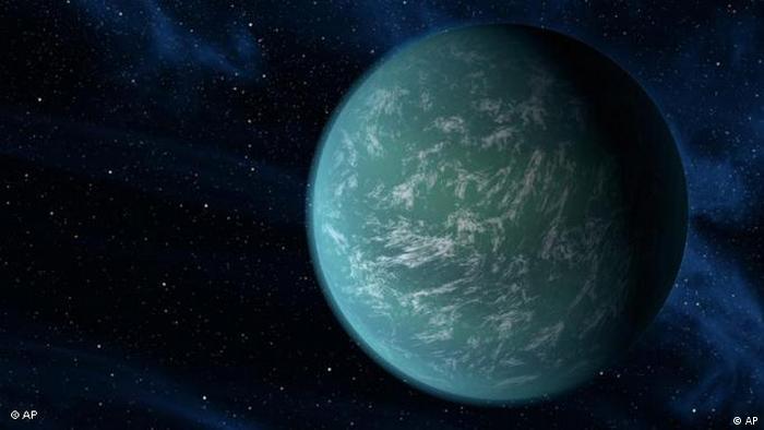 Zeichnung des Planeten Kepler 22b