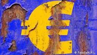 Eurozeichen mit Rost