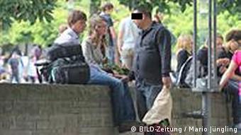 Rosenverkäufer (Foto: E.T., Bild Köln)