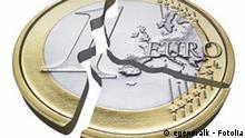 Illustration einer zerbrochenen Euromünze Fotolia: egeneralk