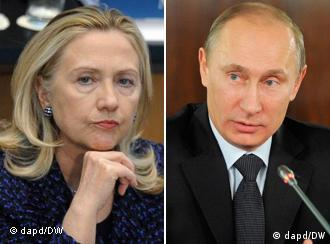 Hillary Clinton and Vladimir Putin