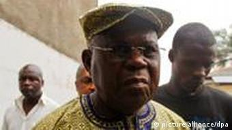 DR Congo elections epa03017273 Top opposition leader Etienne Tshisekedi (C) arrives for a news conference at his residence in Kinshasa, the Democratic Republic of Congo, 27 November 2011. The veteran politician vowed to hold a public rally, defying a government order banning political rallies after at least three people had reportedly been killed in a clash on previous day. Presidential and parliamentary elections are scheduled to be held in DR Congo on 28 November 2011 amid concerns over the prospects for fair elections. Tshisekedi, a 78-year-old opposition leader and the head of the Union for Democracy and Social Progress (UDPS), and Vital Kamerhe, a former UDPS member, are among many others who are challenging incumbent Joseph Kabila in the country's second election since the end of a bloody civil war in 2003. Election-related violence has already broken out in parts of the country ahead of the poll. Election official has said on 27 November that there will be no delay and elections will go as planned on 28 November, despite concerns by many that it would be delayed due to the violence and logistical difficulties in the country two-thirds the size of Western Europe. EPA/DAI KUROKAWA