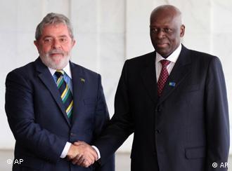 Lula com o presidente angolano José Eduardo dos Santos