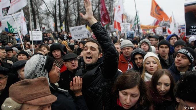 Proteste Demonstrationen in Russland Wahlbetrug Wahlen
