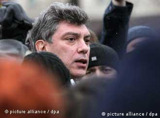 Boris Nemtsov at a rally