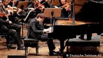 Koreanischer Pianist Chi Ho Han spielt während dem 4. International Beethoven Competition in Bonn ( Copyright: Deutsche Telekom AG)