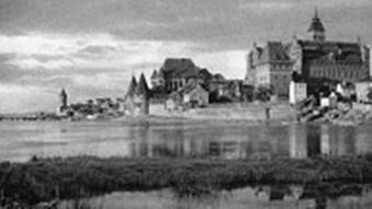 Black and white photo of Marienburg in East Prussia now Malbork in Poland