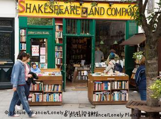 The exterior of the Shakespeare and Company bookstore
