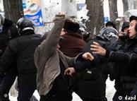 درگیری میان نیروهای پلیس و کارگران در ژانا اوزن