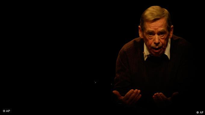 File - In this Oct. 15, 2009 file photo former Czech President Vaclav Havel is seen during a press conference on occasion of the 20th anniversary of the changes in Czechoslovakia and the fall of the Iron Curtain in Prague. Havel, the dissident playwright who wove theater into politics to peacefully bring down communism in Czechoslovakia and become a hero of the epic struggle that ended the Cold War, has died. He was 75. (AP Photo/Petr David Josek)