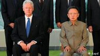 FILE - In this Aug. 4, 2009 file photo released by Korean Central News Agency via Korea News Service in Tokyo, former U.S. President Bill Clinton, seated left, meets with North Korean leader Kim Jong Il, seated right, in Pyonggyang, North Korea. Kim Jong Il, North Korea's mercurial and enigmatic leader whose iron rule and nuclear ambitions dominated world security fears for more than a decade, has died. He was 69. (AP Photo/Korean Central News Agency via Korea News Service) JAPAN OUT UNTIL 14 DAYS AFTER THE DAY OF TRANSMISSION, SOUTH KOREA OUT