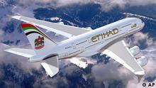 Abu Dhabi Verkehr Fluggesellschaft Etihad Airways Airbus A380