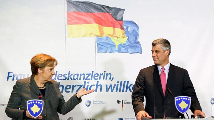 Merkel and Thaci