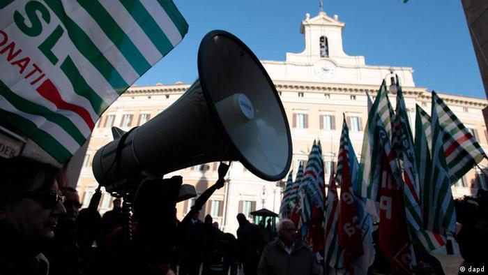 Italian strike action