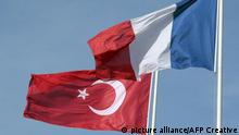 French and Turkish flags