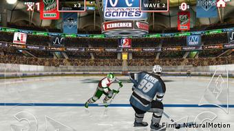 Eishockey-Spiel von NaturalMotion. (Screenshot: NaturalMotion)