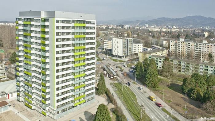 Passiv-Hochhaus der Welt in Freiburg. Alle Bilder stammen von 2011. Copyright: Sydow