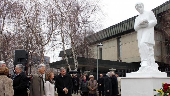 Blaze Koneski Denkmal Gedenkfeier