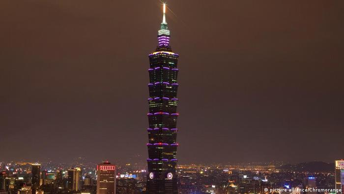 Wolkenkratzer Taipei 101 in Taiwan