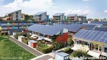 Deutschland Solarsiedlung von Rolf Disch in Freiburg