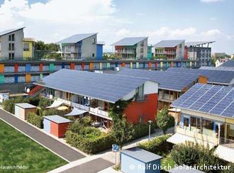 Ejemplo del uso que se da a la energía solar en la ciudad de Friburgo, Alemania.<br /><br /> (Rolf Disch Solararchitektur)
