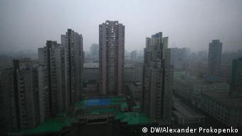 Hochhäuser in Pjongjang, der Hauptstadt Nordkoreas. (Foto: DW/Alexander Prokopenko)