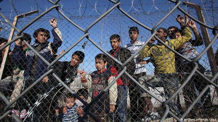 Internierungslager für Flüchtlinge in Griechenland (Foto: dpa)