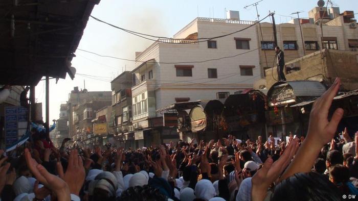 Demonstration in Syrien (Foto: DW-Korrespondentin, Syrien)
