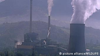 industrial facility emitting air pollution