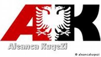 Das Logo der nationalistischen Allianz rot-Schwarz in Albanien (Copyrigth: aleancakuqezi)
