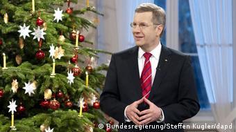 Deutschland Weihnachten Bundespräsident Christian Wulff im Schloss Bellevue in Berlin