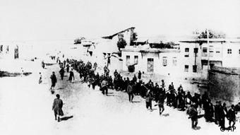 This is the scene in Turkey in 1915 when Armenians were marched long distances and said to have been massacred. (AP Photo)