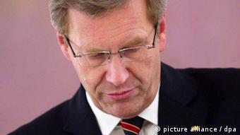 Christian Wulff looks down
