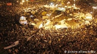 Thousands of Egyptian protesters attend a mass protest in Cairo's Tahrir square on November 24, 2011 (Photo: Landov)