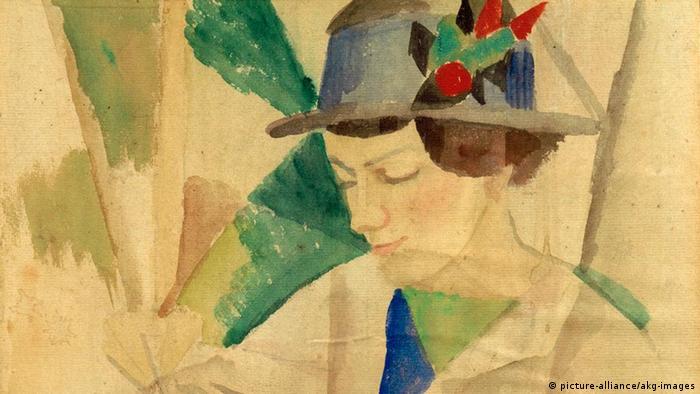 Портрет жены Августа Маке