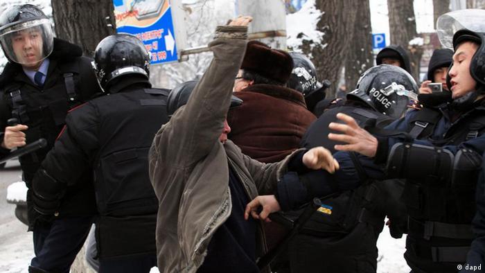 Во время беспорядков в Казахстане