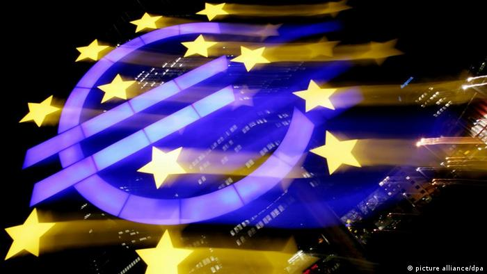 A euro symbol in among the EU stars