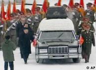 Cortejo fúnebre do ditador Kim Jon Il em Pyongyang