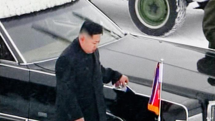 In this image made from KRT television, Kim Jong Un, Kim Jong Il's youngest son and successor, walks next to his father's hearse during a funeral procession of the late North Korean leader, in Pyongyang, North Korea, Wednesday, Dec. 28, 2011. (AP Photo/KRT via APTN) TV OUT, NORTH KOREA OUT