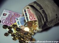 Ein Sack voll Geld von der Deutschen Bundesbank