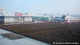 Image of North Korea holding a memorial service for its late leader Kim Jong-il at Kimilsung Square in Pyongyang, North Korea