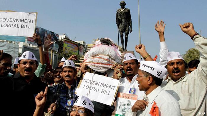 Indien Korruption Anna Hazare