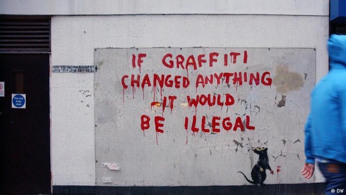 Ein Werk von Street Artist Banksy (Foto: Mahmut Hamsici / DW)