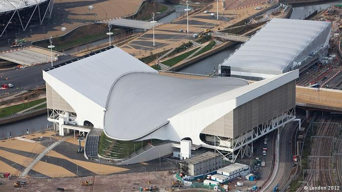 Luftbild vom Schwimmstadion in London (Foto: http://www.london2012.com/photos/)