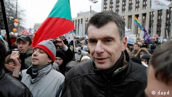 Michail Prochorow während der Proteste in Moskau (Foto: AP)
